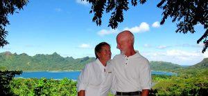 PACKARD- Karyn & Bob on, Huahine, French Polynesia